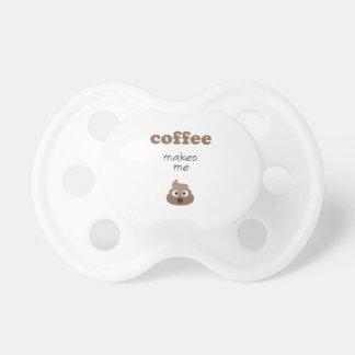 Lustiger Kaffee lässt mich emoji Phrase kacken Schnuller