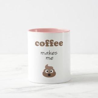 Lustiger Kaffee lässt mich emoji Phrase kacken Tasse