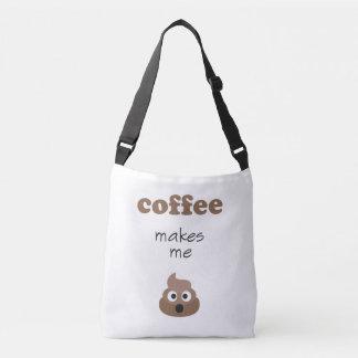 Lustiger Kaffee lässt mich emoji Phrase kacken Tragetaschen Mit Langen Trägern