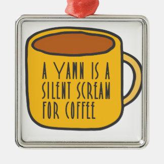 Lustiger Kaffee Silbernes Ornament