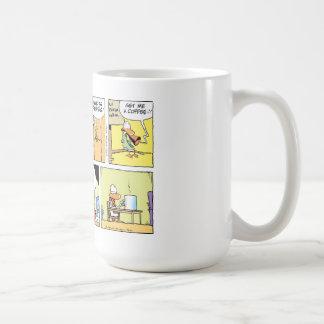 Lustiger Kaffee-Spaß-Luftfahrt-Cartoon Kaffeetasse