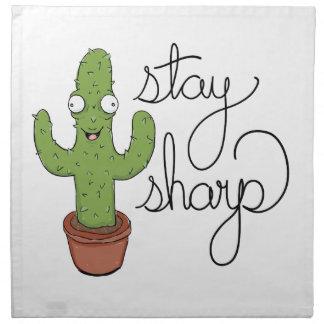 Lustiger Kaktus-Aufenthalt-Scharf-Charakter Serviette