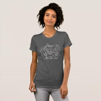 Lustiger Kaktus-freies Umarmungs-Gekritzel T-Shirt