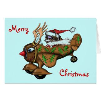 Lustiger Kartenversuchsentwurf froher Weihnachten  Grußkarte