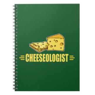 Lustiger Käse CHEESEOLOGIST Spiral Notizblock