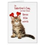 Lustiger Kätzchen-Valentinsgruß Karten