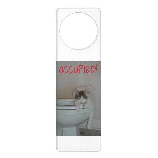 Lustiger Katzen-Badezimmer-Tür-Aufhänger Türanhänger