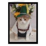 Lustiger Katzen-Deutsch-Geburtstag Grußkarten
