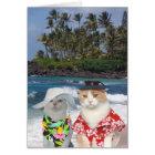 Lustiger Katzen-Hawaiianer-Valentinsgruß Karte