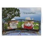 Lustiger Katzen-Valentinsgruß für Schatz Karte