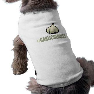 Lustiger Knoblauch Ärmelfreies Hunde-Shirt