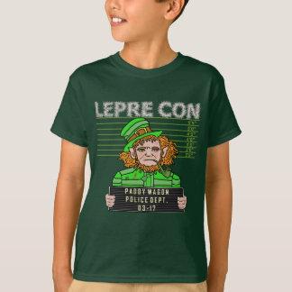 Lustiger Kobold Leprecon Mugshot T-Shirt