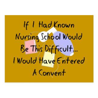 """Lustiger Krankenpflege-Student """"betrat ein Postkarte"""