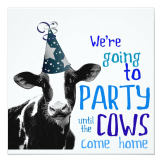 Lustiger Kuh-Junggeselle oder Quadratische 13,3 Cm Einladungskarte