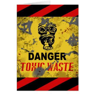 Lustiger kundenspezifischer giftiger Abfallstoff Grußkarte