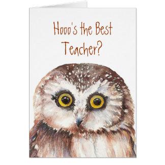 Lustiger kundenspezifischer Lehrer? Geburtstag, Karte