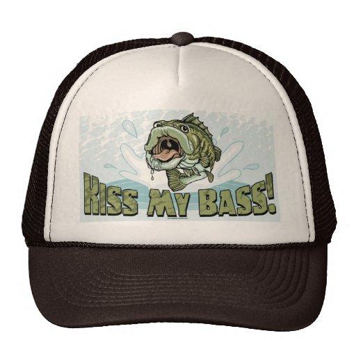 Lustiger Kuss meine Bass-Geschenk-Ideen für Fische Trucker Caps