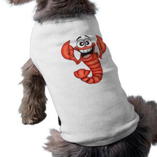 Lustiger lächelnder Hummer Ärmelfreies Hunde-Shirt