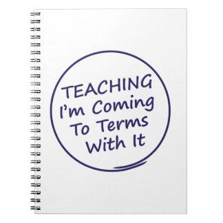 Lustiger Lehrer Spiral Notizblock