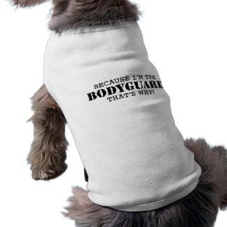 Lustiger Leibwächter Ärmelfreies Hunde-Shirt