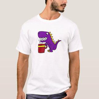 Lustiger lila T-Rex Dinosaurier mit der T-Shirt
