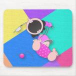 Lustiger lustiger Baby-Golfspieler des Baby-Golf-| Mousepads