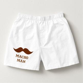 Lustiger Machomann-Schnurrbart Herren-Boxershorts