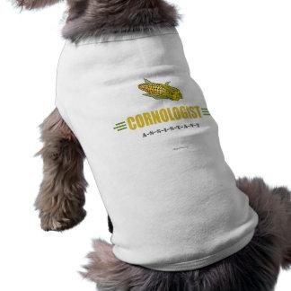 Lustiger Mais Ärmelfreies Hunde-Shirt