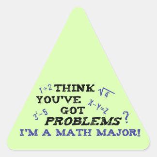 lustiger Mathemajor Dreiecks-Aufkleber