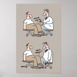 Lustiger medizinischer Büro-Plakat-Doktor Checks Poster