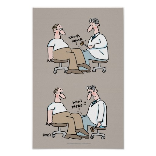 Lustiger medizinischer Büro-Plakat-Doktor Checks
