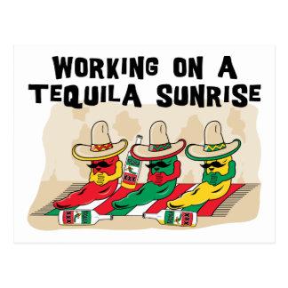 Lustiger mexikanischer Tequila-Sonnenaufgang Postkarte