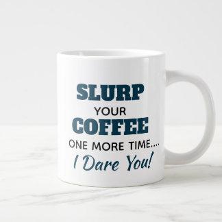 Lustiger Mitarbeiter Slurp Kaffee-Tasse Jumbo-Tasse