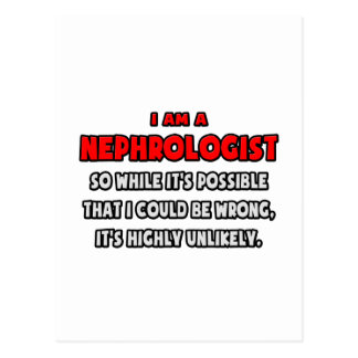 Lustiger Nephrologe. In hohem Grade Postkarte
