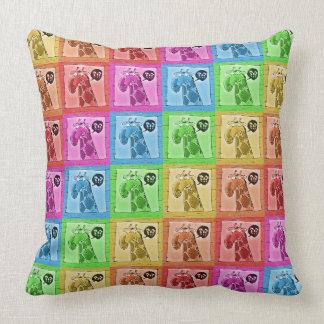 lustiger neugieriger Giraffen-Cartoon Kissen