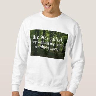 lustiger Neunzigerjahre Hipster Sweatshirt