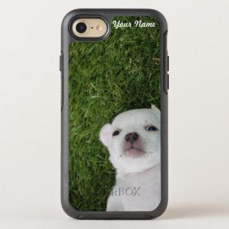 Lustiger niedlicher Chihuahua-Welpen-Hund Ihr Name OtterBox Symmetry iPhone 8/7 Hülle