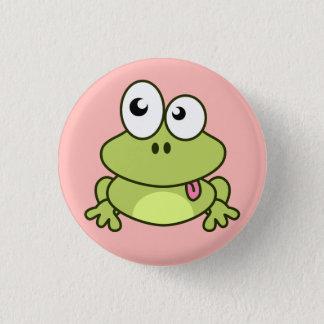 Lustiger niedlicher Frosch-Cartoon Runder Button 3,2 Cm