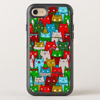 Lustiger nobler Weihnachtskatzen OtterBox iPhone 7 OtterBox Symmetry iPhone 7 Hülle