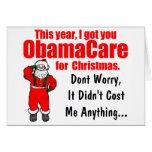 Lustiger ObamaCare Weihnachtsgruß Grußkarte