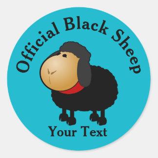 Lustiger offizieller schwarze Schaf-Aufkleber Runder Aufkleber