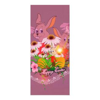 Lustiger Osterhase mit Ostereiern 10,2 X 23,5 Cm Einladungskarte