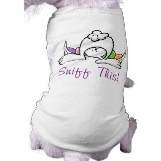 Lustiger Osterhasen-HundeT - Shirt Ärmelfreies Hunde-Shirt