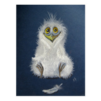 Lustiger Owlet - Vogelbaby Postkarte