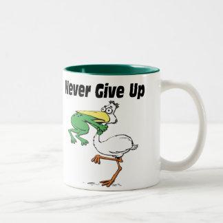 Lustiger Pelikan Zweifarbige Tasse