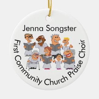 Lustiger personalisierter Kirchen-Chor Keramik Ornament