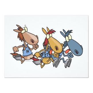 lustiger PferdelaufenCartoon 16,5 X 22,2 Cm Einladungskarte