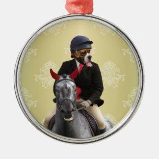 Lustiger Pferdereitercharakter Silbernes Ornament