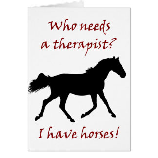 Lustiger Pferdetherapeut Karte