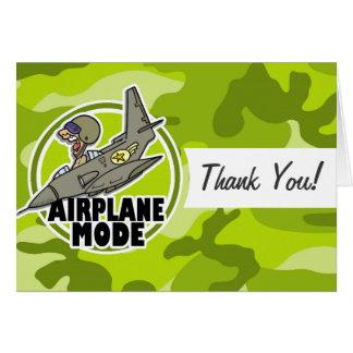 Lustiger Pilot; hellgrüne Camouflage, Tarnung Karten